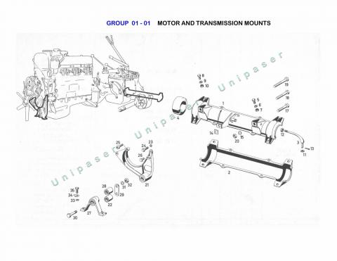 01-01 MOTOR AND TRANSMISSION MOUNTING