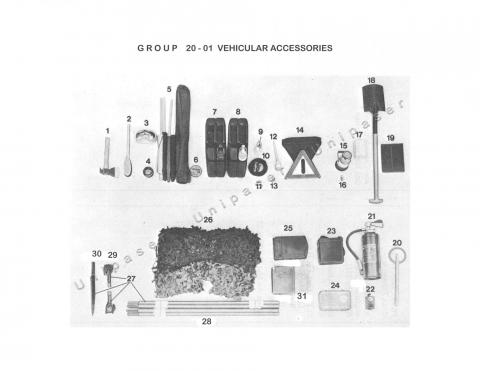 20-01 VEHICULAR TOOLS AND ACCESSORIES